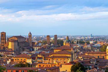 Mappa turistica di Bologna in blocchi a strappo
